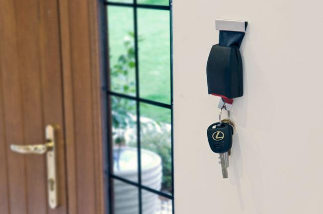 Bezpieczny wieszak na klucze