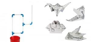 imprezowe słomki i serwetki origami